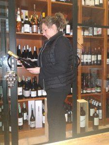 Carmen in her winery
